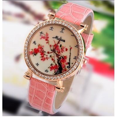 Reloj sakura con numeros en japonés