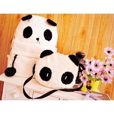 Cute Panda Mochila + Bolso