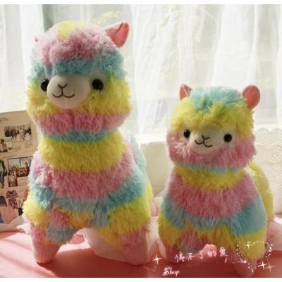 Peluche alpaca arcoiris