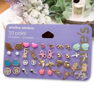 Pack de 20 pares de pendientes variados