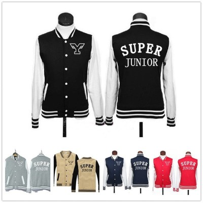 Super Junior - Chaqueta tipo baseball