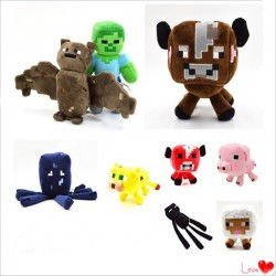 Pack de 9 peluches de Minecraft
