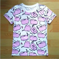Pusheen Cat - Camiseta de manga corta