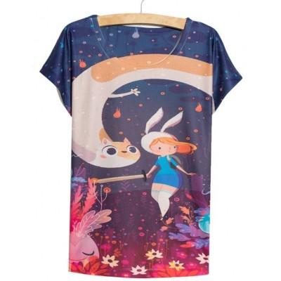 Hora de aventuras - Camiseta Fionna & Cake