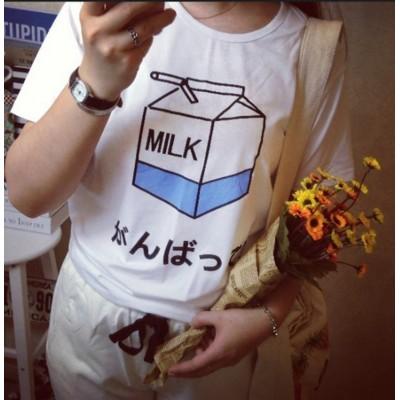 Camiseta Milk - Letras japones