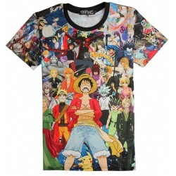 Camiseta anime - Naruto, One Piece, Pikachu
