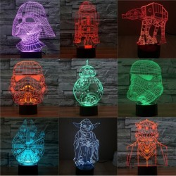 Lampara Led 3D Star Wars