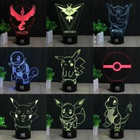 Lampara Led 3D Pokemon