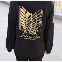 Ataque a los titanes - Sudadera Logo Dorado
